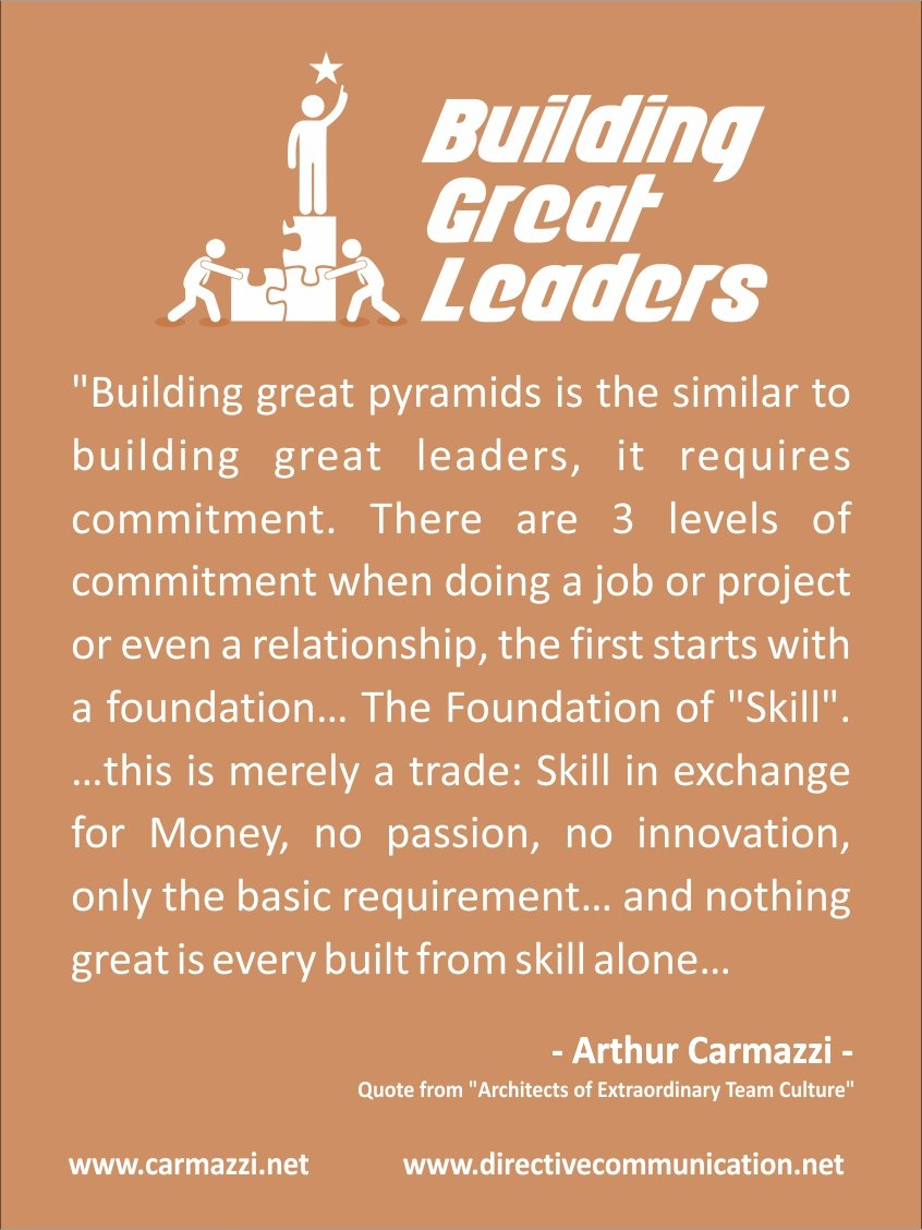 Building Great Leaders